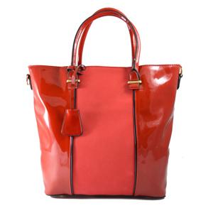 9dac0ab1a9 Červená lakovaná kabelka do ruky Luxury